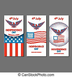 4th July Independence day and for Presidential election HUGE vector object set isolated on white. VECTOR EPS 10