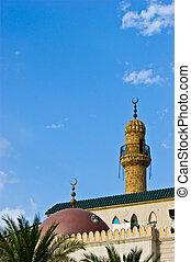 Minaret - A tall minaret of a mosque in down town beirut