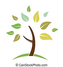 Abstract tree is isolated on white background