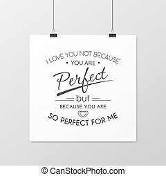 Love. Quote Typographical Background.