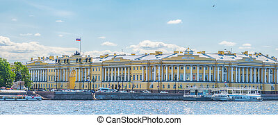 The buildings of the Senate and Synod in St Petersburg in...