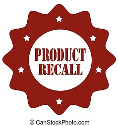 Product Recall-stamp - Stamp with text Product Recall,vector...