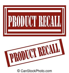 Product Recall-stamps - Set of stamps with text Product...