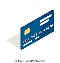 Bank card icon, isometric 3d style - Bank card icon in...
