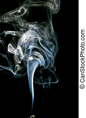 cloud of real incense smoke - Cloud of real smoke billowing...
