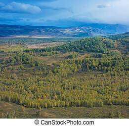 Altay mountains in Siberia - Altay mountains in beauty day,...