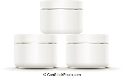 Blank Cosmetic Container for Cream, Powder or Gel.