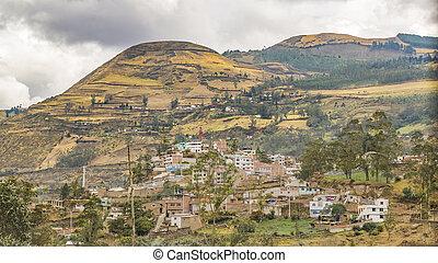 Cityscape Aerial View Alausi Ecuador