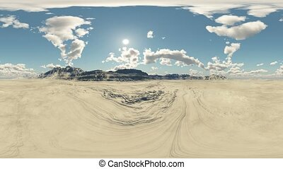panoramic desert made with one 360 degree lense camera...