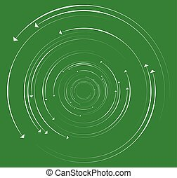 Concentric, circular arrows. Random dynamic circle arrows.