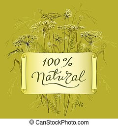 label template with herbs