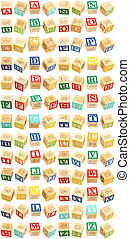 Alphabet Blocks A thru Z - Colorful alphabet blocks with...