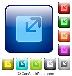 Color resize window square buttons - Set of resize window...