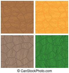 Stone textures set - Four stone backrounds different colors...