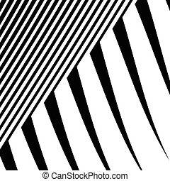 Lines with distortion Edgy, wavy lines monochrome geometric...