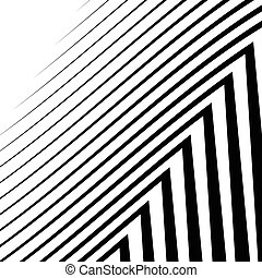 Lines with distortion. Edgy, wavy lines monochrome geometric...