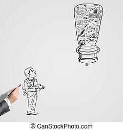 el bosquejar, éxito,  idea