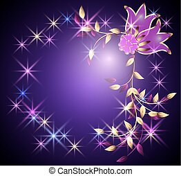 Transparent flowers and stars - Transparent flowers and...