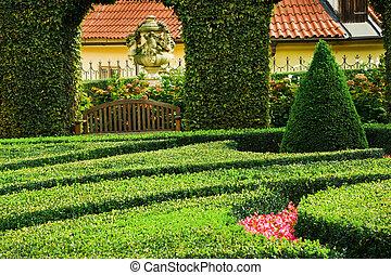 European garden - Beautiful classical European garden...