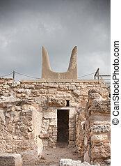 Knossos Archeological Site - Minotaur horns at Knossos...