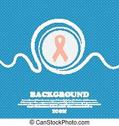 ribbon, breast cancer awareness month icon sign Blue and...