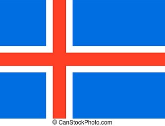Flag of Iceland The correct proportions and color Vector...