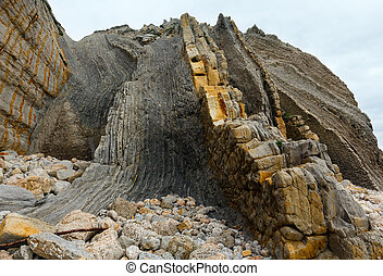 Rock on Portio Beach - Detail of rock on Portio Beach in...