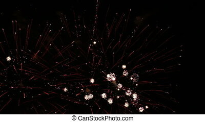 Festive fireworks in the night sky