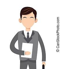 caucasian businessman icon