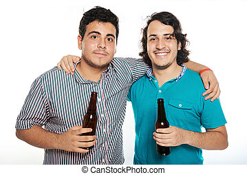 friends with beers