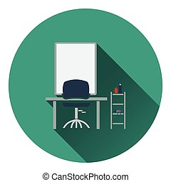 Barbershop icon Flat color design Vector illustration