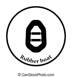 Icon of rubber boat
