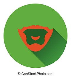 Goatee icon. Flat color design. Vector illustration.