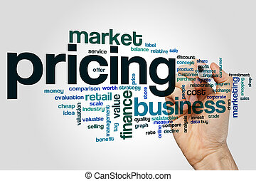 Pricing word cloud concept - Pricing word cloud