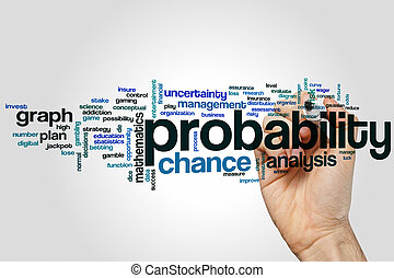 Probability word cloud concept