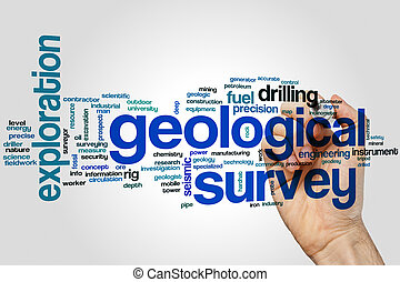 Geological survey word cloud concept