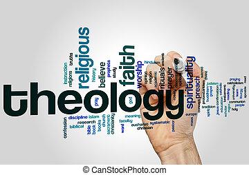 teología, palabra, nube,