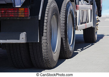big truck on road