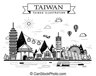 Taiwan travel poster - Taiwan travel concept poster with...