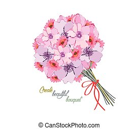 Romantic background with bouquet