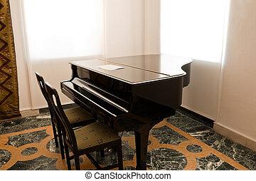 Concert grand piano
