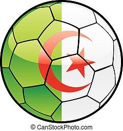 flag of Algeria on soccer ball
