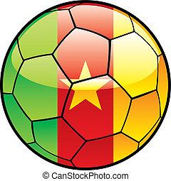 flag of Cameroon on soccer ball - fully editable vector...