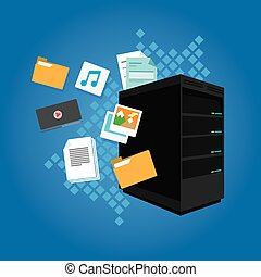 file server data document image video email folder