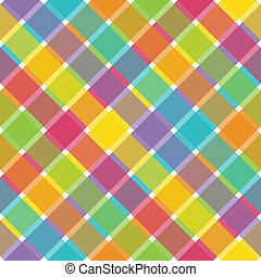 Bright Plaid - An illustration of a bright plaid pattern