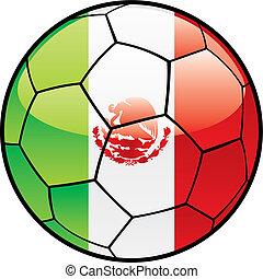 flag of Mexico on soccer ball - fully editable vector...