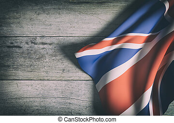 United Kingdom flag - 3d rendering of United Kingdom flag...