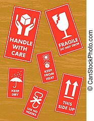 Fragile Sticker Set