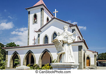 portuguese christian catholic church landmark in central...