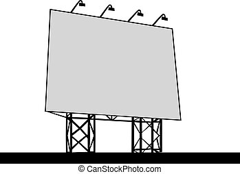 Billboard Outdoor Advertising Vector illustration